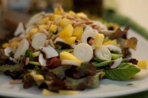 Salada da boa, feita pelo meu amado esposo. A foto é minha.